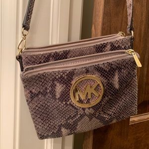 Michael Kors snakeskin purse